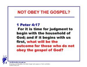 NOT OBEY GOSPEL