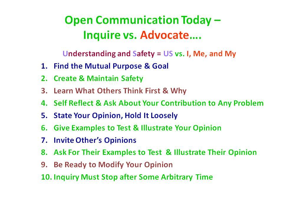 Open Communication Flow Chart Giving An Account 2