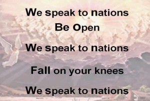 WE SPEAK TO NATIONS - lyrics