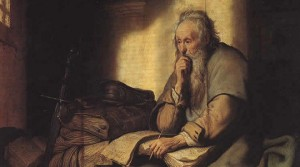 Paul-in-prison_Rembrandt