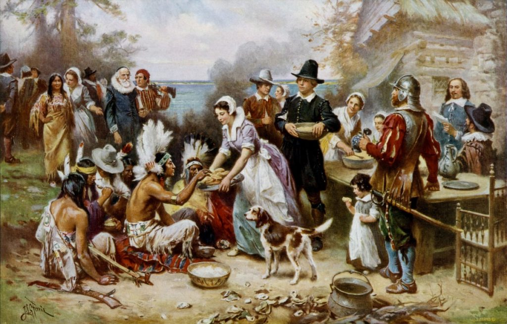 "THE TRUTH ABOUT THE FIRST THANKSGIVING – ""OH, WE JUST INVITED THE INDIANS TO SHARE OUR FOOD."" (OR DID THEY?) – BY MARC WHITE [AT THE BATTLE FRONT 148]"